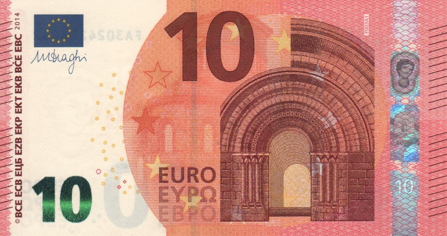Comment découvrir un billet de la série Europe